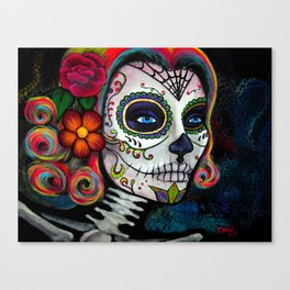 Sugar Skull Candy Canvas Print