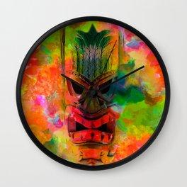 Tiki Kara Wall Clock
