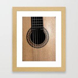 Classic Guitar Framed Art Print