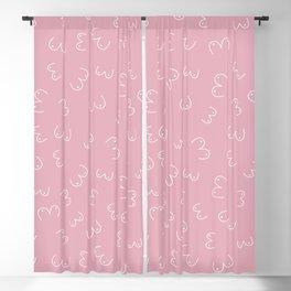 Pink Boobs Breast cancer awareness sisterhood power Blackout Curtain