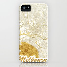 Melbourne Map Gold iPhone Case