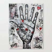 writer Canvas Prints featuring palm writer by sladja