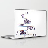skeleton Laptop & iPad Skins featuring Skeleton by Ali GULEC