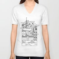 tokyo V-neck T-shirts featuring TOKYO by Design Made in Japan