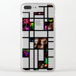 Modern Art Abstract Foil Effect Pattern Clear iPhone Case