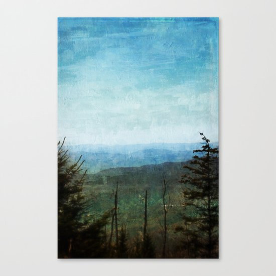 View from Clingman's Dome Tennessee Smoky Mountains Canvas Print