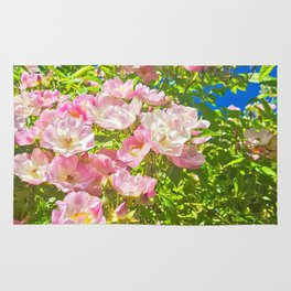 Sun Soaked Roses Rug