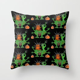 Halloween Monster Mash-Up Throw Pillow