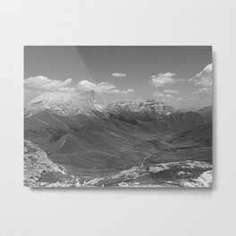 Green Mountain Valley Alpine Landscape bnw Metal Print