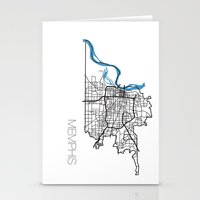 memphis Stationery Cards featuring Memphis by linnydrez