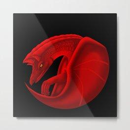fierce dragon Metal Print