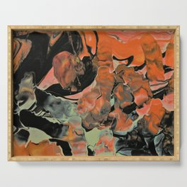 Fall Thoughts - Abstract Acrylic Painting Serving Tray