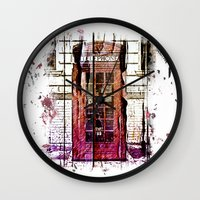 telephone Wall Clocks featuring Telephone by Del Vecchio Art by Aureo Del Vecchio