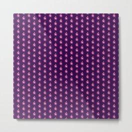 Purple Christmas Globes Metal Print