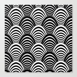 Black and White Art Deco Pattern Canvas Print