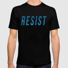 RESIST 2.0 - Blue #resistance Black Mens Fitted Tee MEDIUM