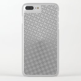 d20 Iron Weapon Critical Hit Pattern Clear iPhone Case