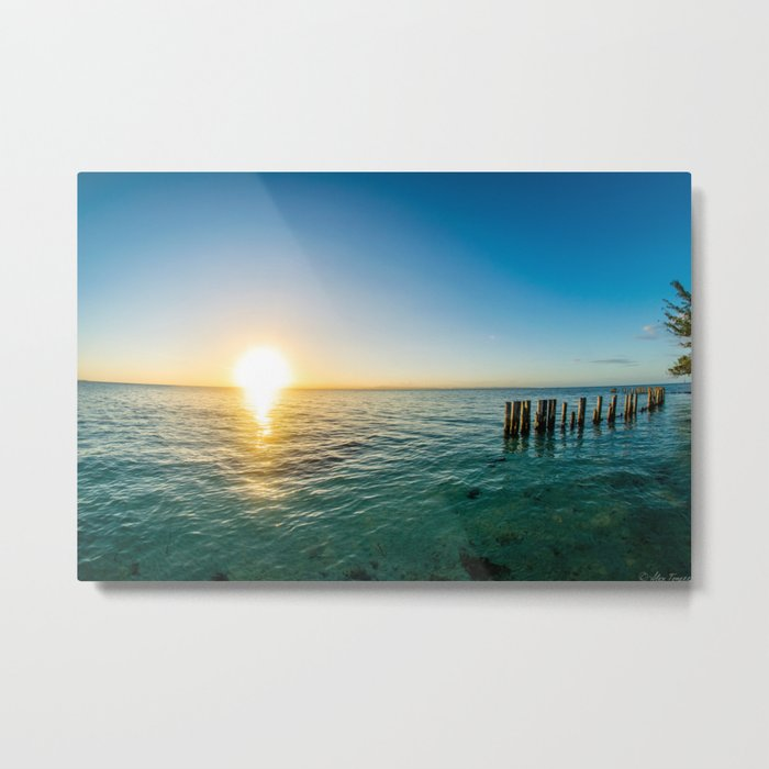 Belize Sunset Metal Print