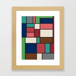 The Colors of / Mondrian Series - Spirited Away - Miyazaki Framed Art Print