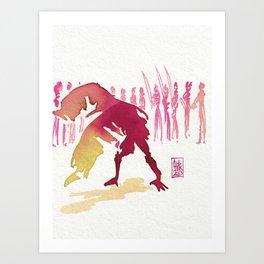 Capoeira 327 Art Print