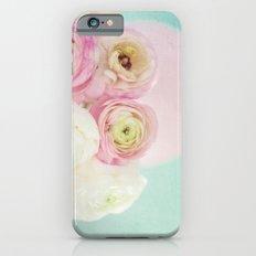 Ranunculas on Teal iPhone 6s Slim Case