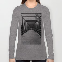 Bridge to Nowhere Black and White Photography Long Sleeve T-shirt