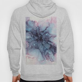Galactic Flower Abstract Ink Hoody