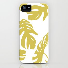 Simply Mod Yellow Palm Leaves iPhone Case