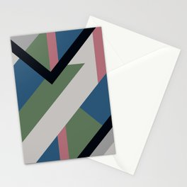 Modernist Dazzle Ship Camouflage Design Stationery Cards