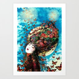 I'm flying to the Moon Art Print