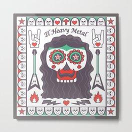 Heavy Metal Mexian Style Metal Print