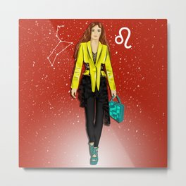 Fashion horoscope-girl under the sign of Leo  Metal Print