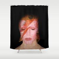 bowie Shower Curtains featuring bowie by Taranta Babu
