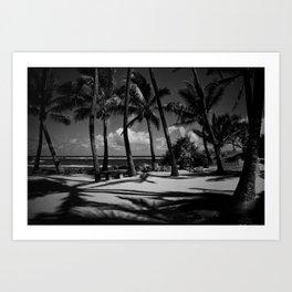 Kuau Beach Palm Trees Paia Maui Hawaii Art Print