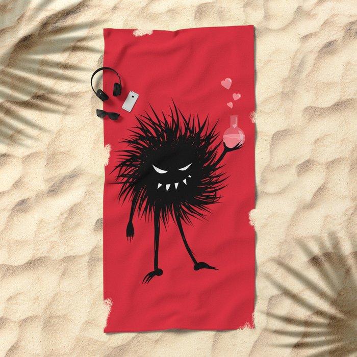 Evil Bug Made A Love Potion For You Beach Towel