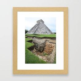 Chitchen Itza Excavations Framed Art Print