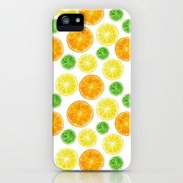 Citrus medley! Oranges, lemons, and limes.  iPhone Case