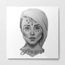 Sugar Skull Alysha Nett Metal Print