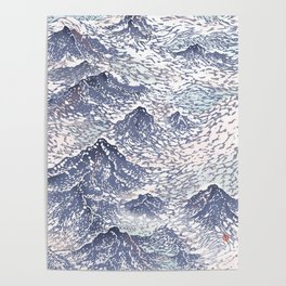 Distant View - 遠望 series -Linocut Poster