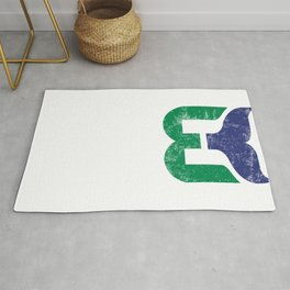 Hartford Whalers Distressed Logo - Defunct Hockey Team - New England & Massachusetts Sports Heritage  Rug