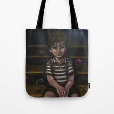 Halfway down the stairs Tote Bag