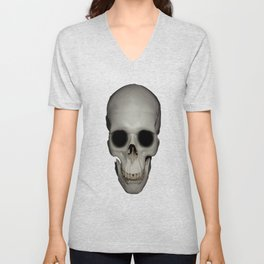 Human Skull Vector Isolated Unisex V-Neck