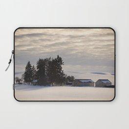 Winter Farm at Golden Hour - Palouse, Washington State  Laptop Sleeve