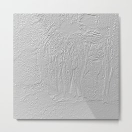Abstract thick gray paint texture Metal Print
