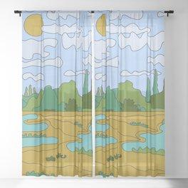 Sunny Day Sheer Curtain