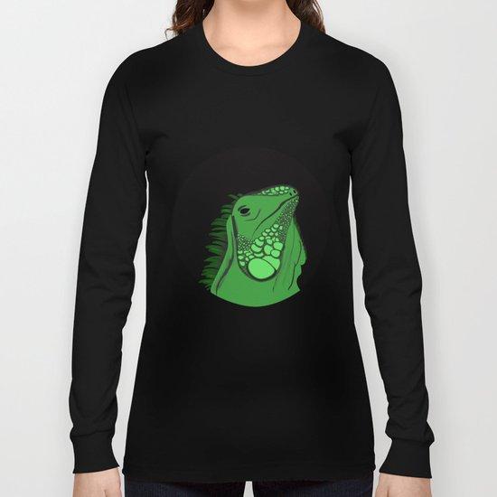 Green Iguana Illustration  Long Sleeve T-shirt