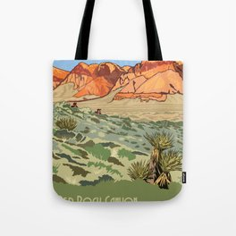 Vintage Poster - Red Rock Canyon National Conservation Area, Nevada (2015) Tote Bag