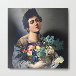Caravaggio - Boy with a Basket of Fruit Metal Print