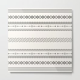 Tribal Pattern of Baholo Metal Print
