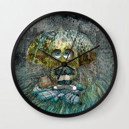 Rain All Day Wall Clock